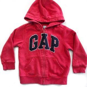 [GAP] Worn • Baby Gap Logo Zip Hoodie in Red